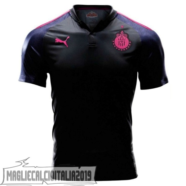 Tutto Maglie Calcio PUMA Away Project Pink CD Guadalajara 17-18 Nero