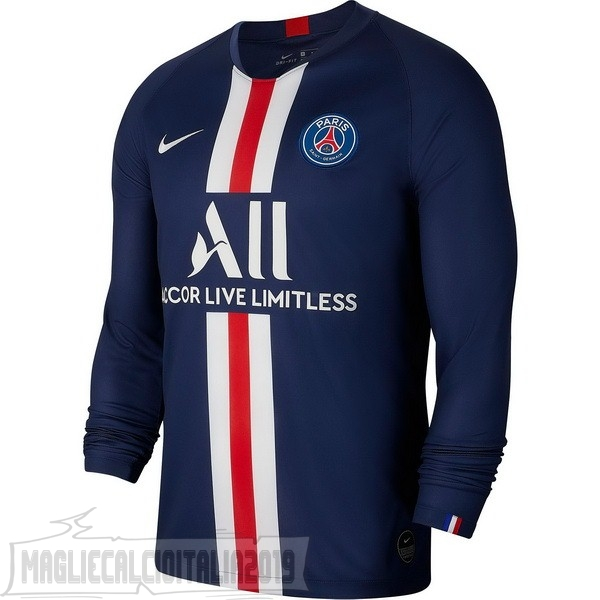 Tutto Maglie Calcio Nike Home Manica lunga Paris Saint Germain 2019 2020 Blu