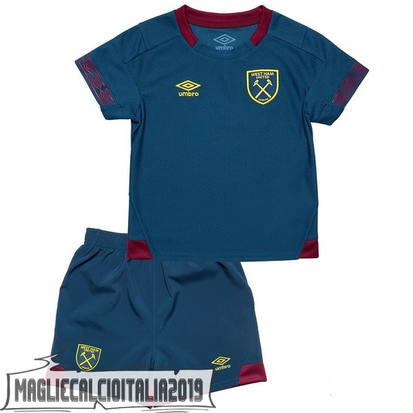 Tutto Maglie Calcio umbro Away Set Completo Bambino West Ham United 18-19 Blu